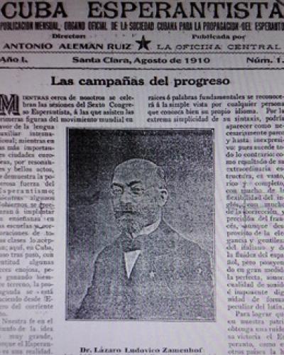 Fotokopio de la oficiala organo de la esperantistoj kubaj en 1910