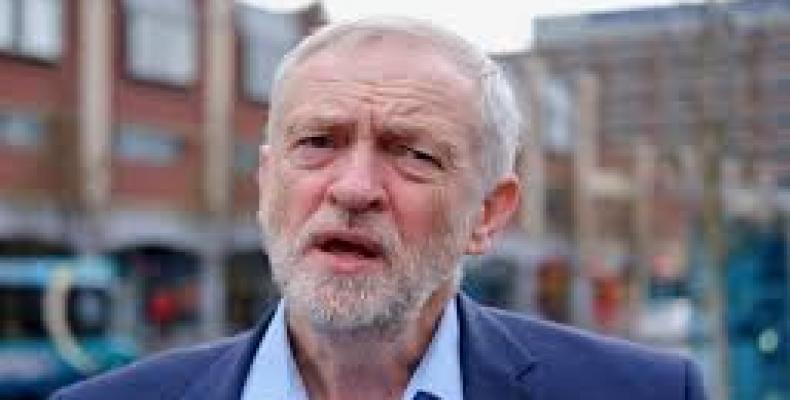 Líder del opositor Partido Laborista, Jeremy Corbyn,