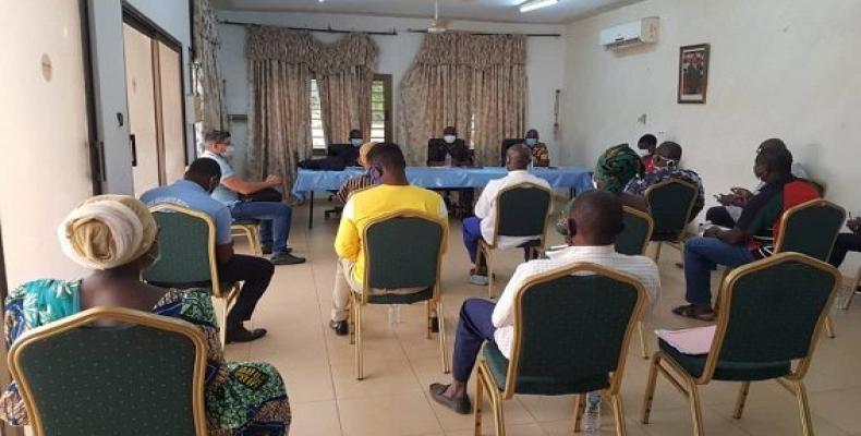 Colaboradores cubanos en Togo.Fotos:Cortesía de la delegación.
