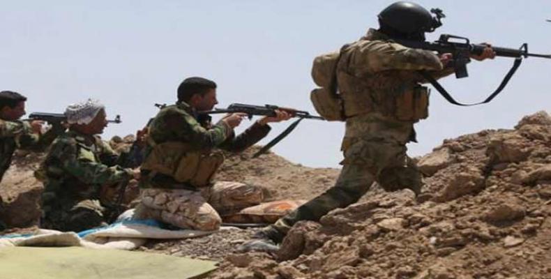 Soldados sirios en acción