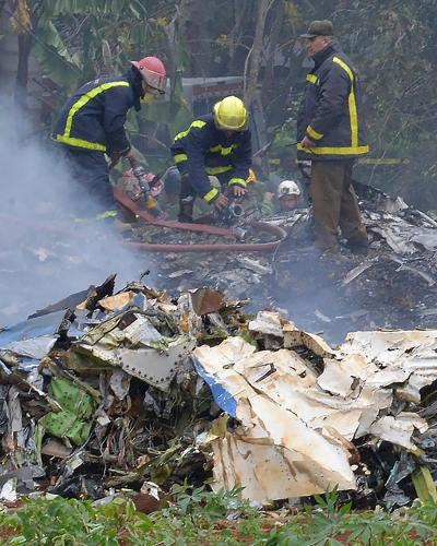 Plane crash that occurred this Friday at 12:08, near the Jose Marti International Airport