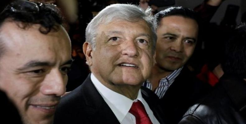 Andres Manuel Lopez Obrador (AMLO) leaves after being sworn-in as presidential candidate of the National Regeneration Movement (Morena) during the party's conve