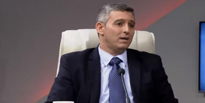 The Minister of Communications of Cuba, Jorge Luis Perdomo Di-Lella. Cubadebate Photo
