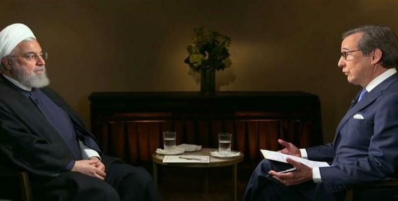 Frame grab from Iranian president's interview with Chris Wallace.  (Photo: Fox News)