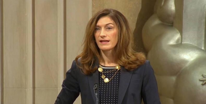 U.S. Justice Department's Third-Highest-Ranking Official, Rachel Brand.  Photo: Democracy Now