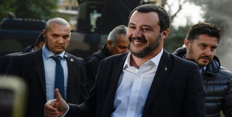Italy's Interior Minister Matteo Salvini.  Photo: AFP