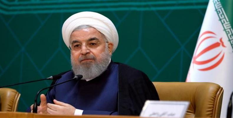 Iranian President Hassan Rouhani attends a meeting with senior cabinet members in Tehran on June 27, 2018.   Photo: president.ir