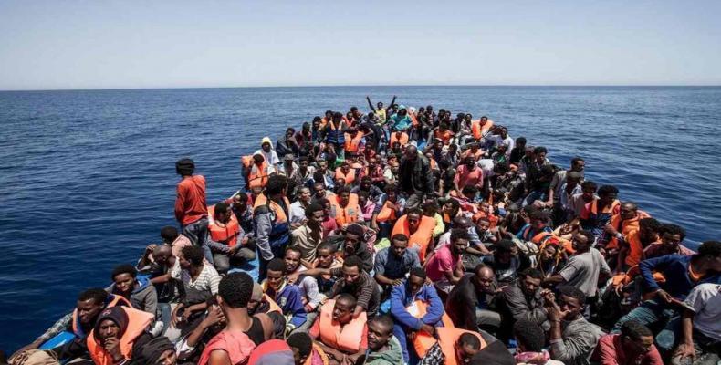 Unos 232 inmigrantes rescatados arribaron a Italia. Foto:PL