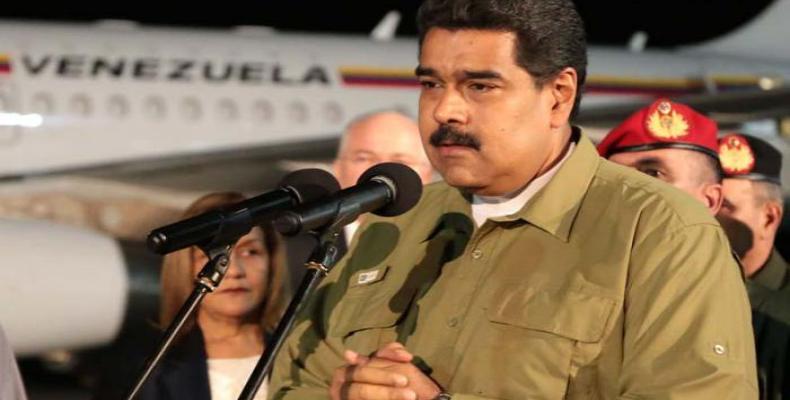 Maduro a su llegada a La Habana, Foto: Diario Granma