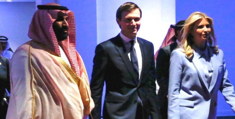 Jared Kushner with Saudi crown prince.  Photo: Reuters