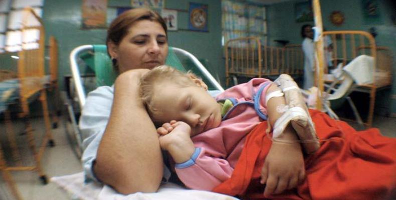 Paciente infantil con leucemia. Foto: Archivo