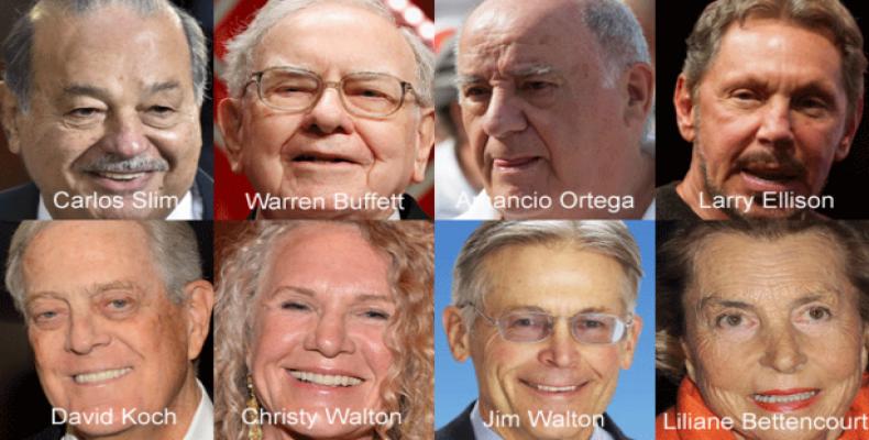 Bill Gates ocupa el primer lugar del listado y David Koch comparte su fortuna con su hermano Charles Koch.