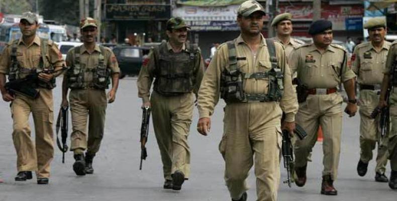 Policias indios (imágen de archivo)