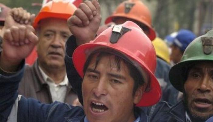 Protestas de mineros en Perú