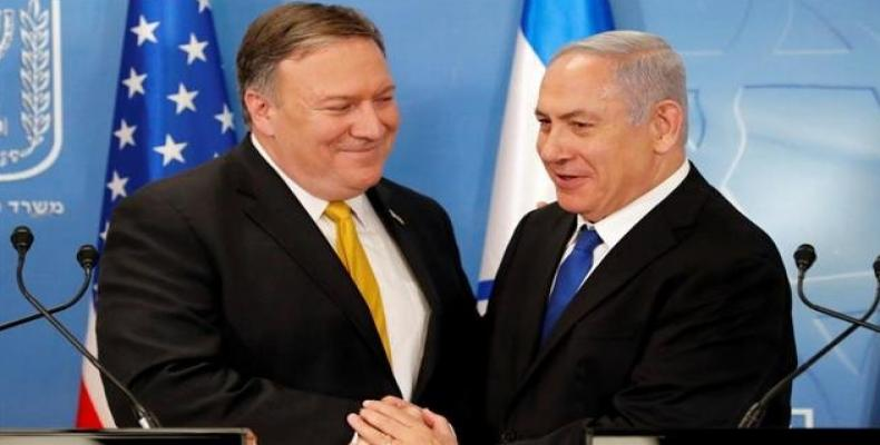 U.S. secretary of state says Washington will work with Israel against Syria and Iran.  Photo: Democracy Now