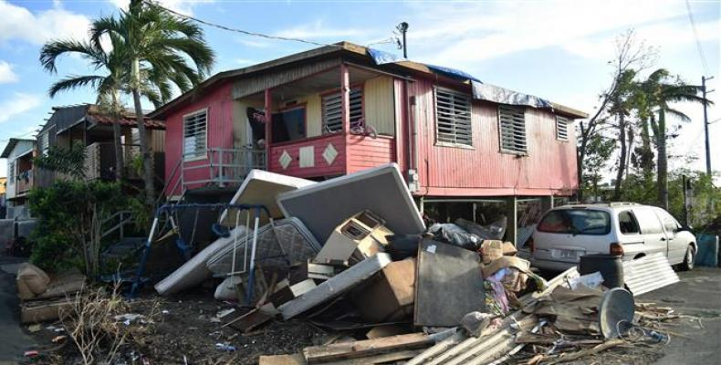 Damage caused by Hurricane Maria in Puerto Rico.  Photo: AP