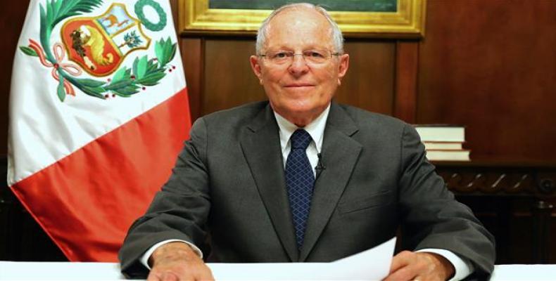 Peru's President Pedro Pablo Kuczynski