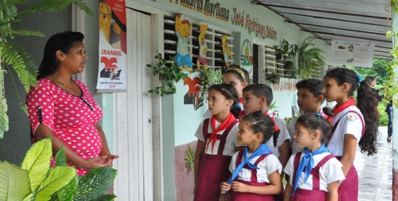 La provincia de Granma sobresale por sus resultados en el sector de la Educación.Foto:La Demajagua