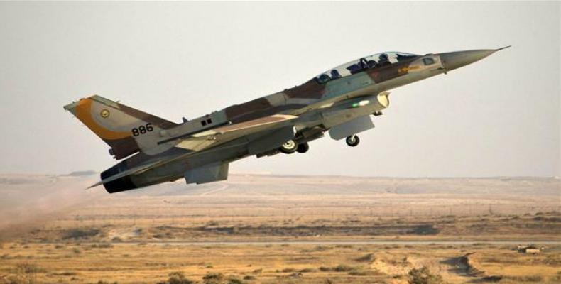 This file picture shows an Israeli F-16 fighter jet taking off from an airbase in the occupied territories.  Photo: File