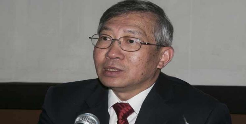 El director general adjunto para la Cooperación Técnica, Dazhu Yang visitó La Habana en marzo pasado. Foto: Archivo