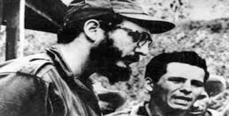 Carlos Bastidas with Fidel Castro in 1958.