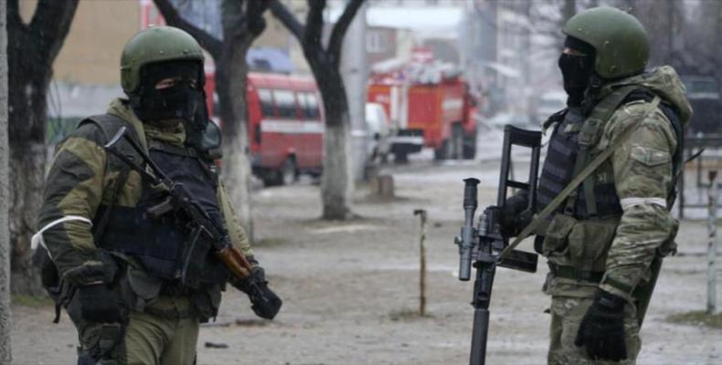 Soldados de fuerzas especiales rusas durante una operación antiterrorista (Imágen de archivo)