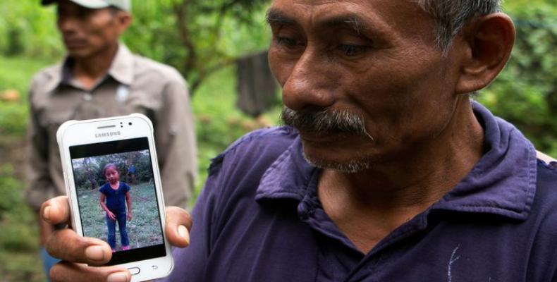 Domingo Caal, abuelo de la víctima. Foto / Sky News.