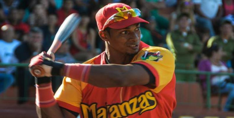 Outfielder Yurisbel Gracial plays with Japanese League