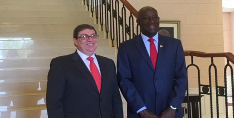 Ce mercredi, le chef de la diplomatie cubaine a été reçu par le Premier ministre de Trinité-et-Tobago, Keith Christopher Rowley.