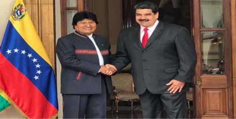 Evo Morales y Nicolás Maduro en XV Cumbre ALBA-TCP/Imagen: La Radio del Sur