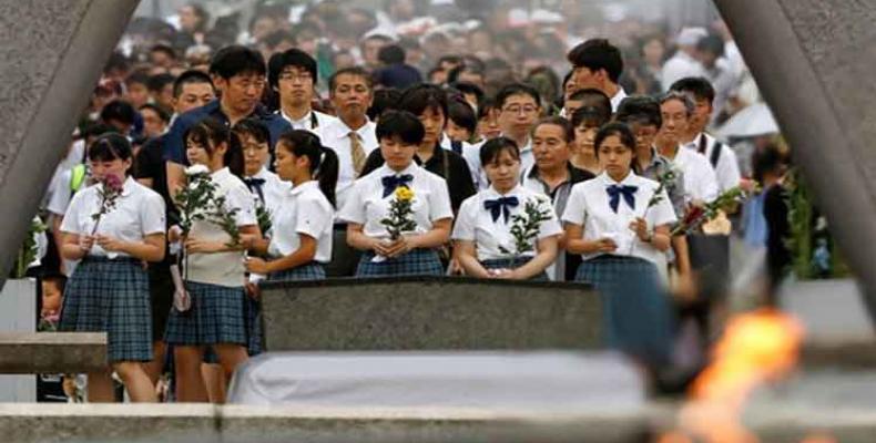 Recuerdan en Japón víctimas de bombardeo atómico . Foto: PL.