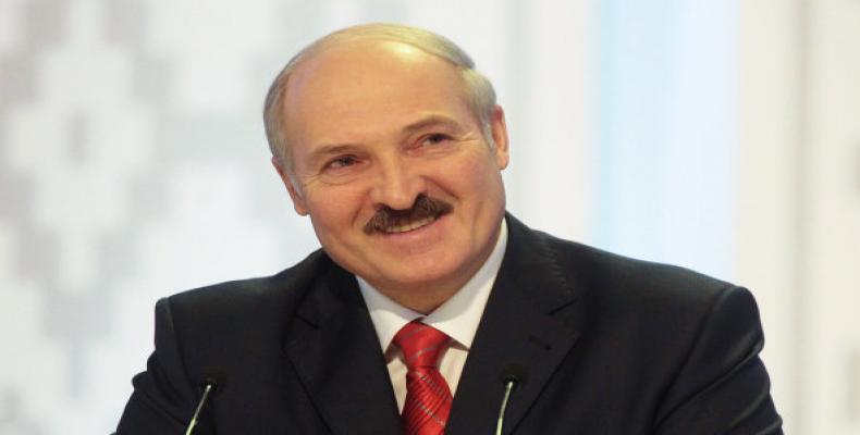 Alexander Lukashenko, trasladó un saludo al General de Ejército Raúl Castro, Presidente de los Consejos de Estado y de Ministros de Cuba,. Foto: Archivo