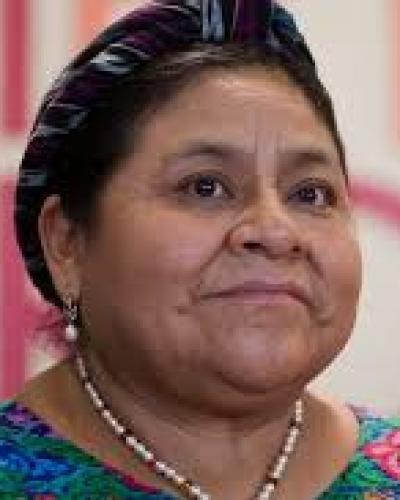 Premio Nobel de la Paz Rigoberta Menchú