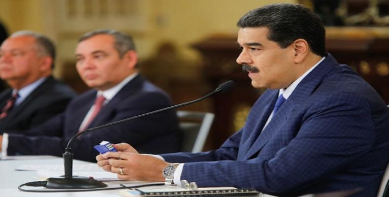Venezuelan President Nicolas Maduro speaks at Miraflores in Caracas, Sept 9, 2019  (Photo: VTV)