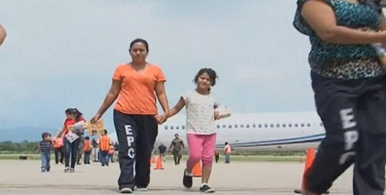 Children are deported from U.S. to violence-ridden countries.   Photo: Democracy Now