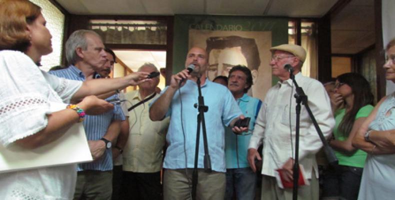 Gerardo Hernández durante su visita a Radio Habana Cuba (Foto archivo/RHC)