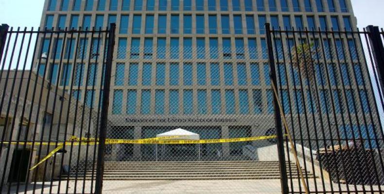 U.S. Embassy building in Havana.