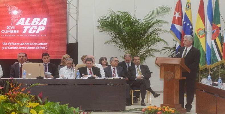 El Jede de Estado cubano destacó los logros de ese mecanismo. Foto tomada de la ACN