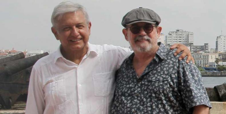 Andres Manuel Lopez Obrador and Silvio Rodriguez