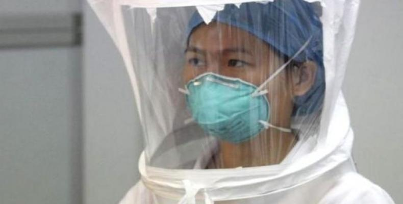 A team of four health personnel from the Chinese CDC and seven from other institutes.  Photo: Reuters