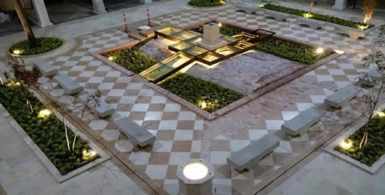 Monumento donde reposarán cenizas de Gabo en claustro colonial de Cartagena