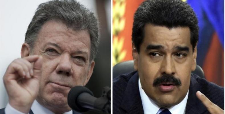 Presidente de Venezuela, Nicolás Maduro, se reunió con su par colombiano, Juan Manuel Santos,