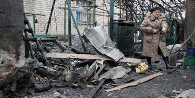 Bombardeo anterior en Donetsk