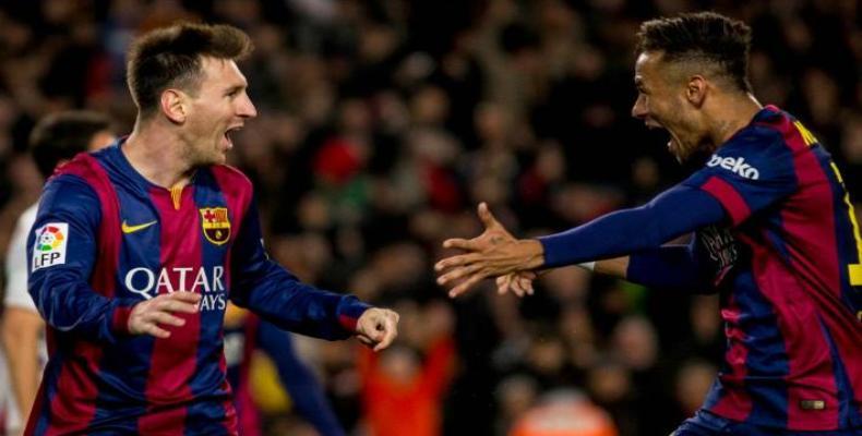 Messi y Neymar. Foto: Archivo