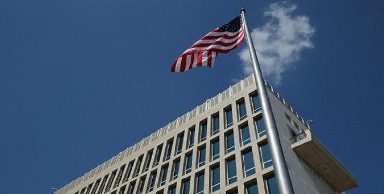 L'ambassade des Etats-Unis à La Havane. Photo des archives.