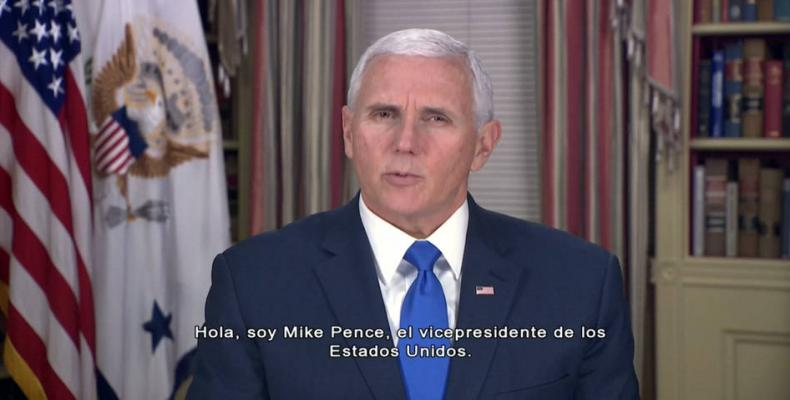 U.S. vice president posts video calling for overthrow of Venezuelan government.  Photo: