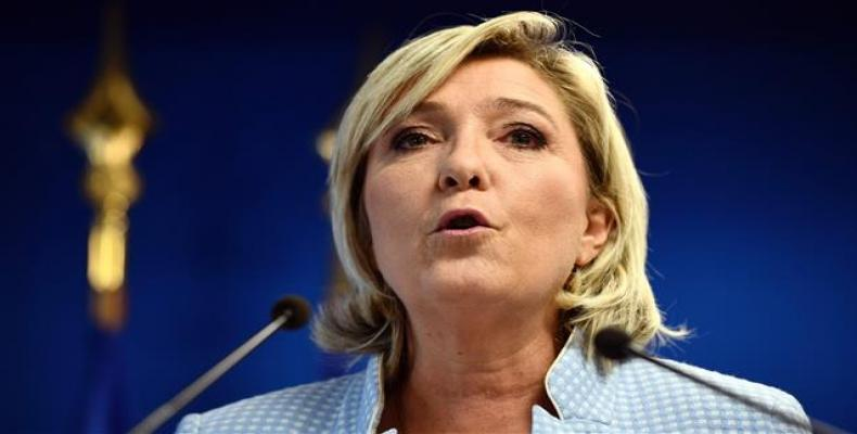 French Far-right Politician Marine Le Pen