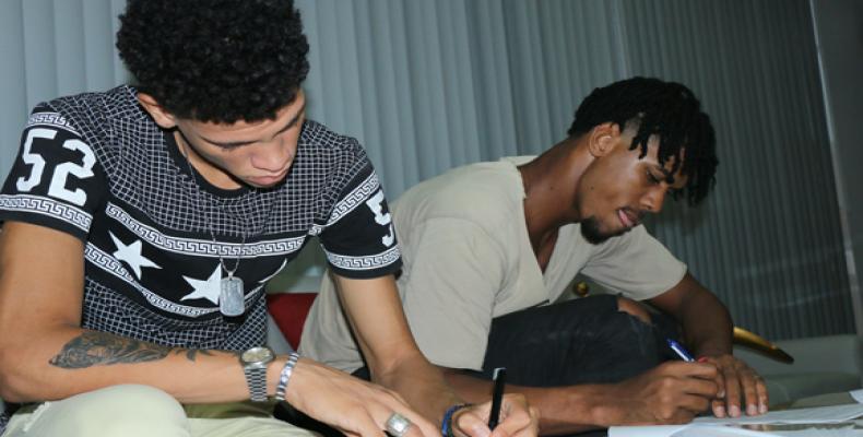 Marlon y Michel. Foto: Mónica Ramírez