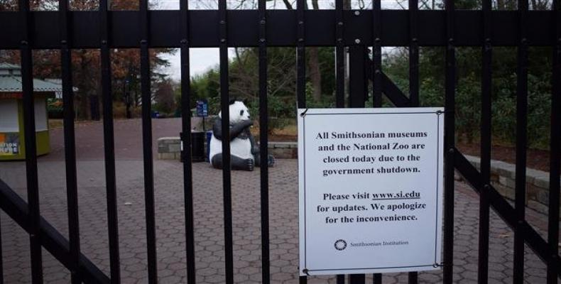 The Smithsonian National Zoo is closed to the public on January 02, 2019 in Washington, DC amid a government shutdown.  Photo: AFP
