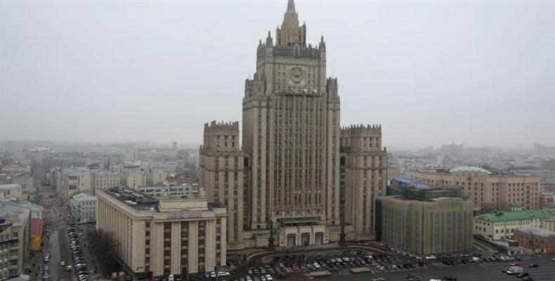 A file photo of the Russian Foreign Ministry building in Moscow.  Photo: File